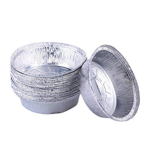 bestonzon Aluminium Folie Tart/Pie pans|disposable rund Zinn Teller für hausgemachte Kuchen Torten-15,2cm | 50Stück (ohne Deckel) Aluminium Pie Pan