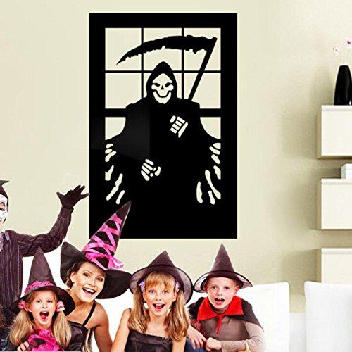 Horror Stochg Wohne Informationen: Stornlamake, Wandaufkleber DIY Wandgemälde Abziehbilder Halloween Dekoration Home Wohnzimmer Schlafzimmer (Diy Halloween-yard-dekorationen)