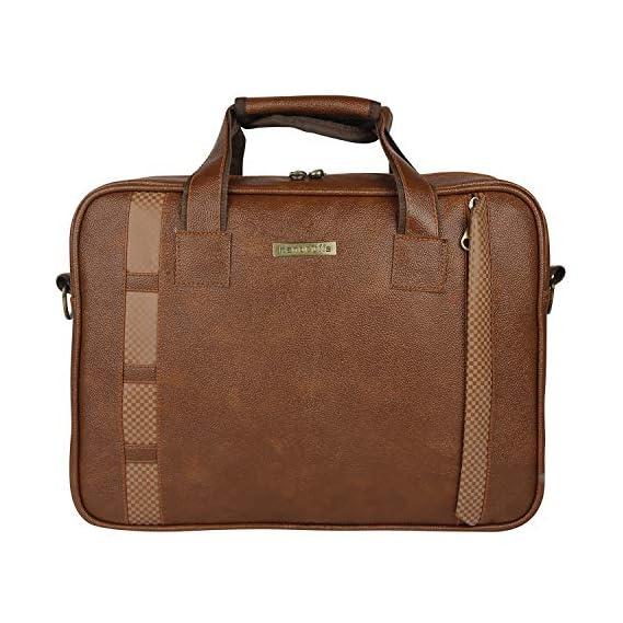 Handcuffs 16 Inch Laptop Bag - Messenger Leather Office/Laptop Bag for Men (BFLAPBAGN22)
