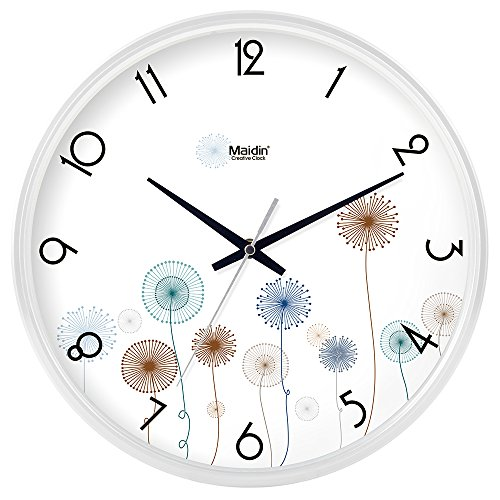 lalapy Wall Clocks Silent Non-Ticking Modern Stylish Elegant Simple Creative Retro for Home Office School Living Room Bedroom, Easy to Read Calendar Quartz, 10