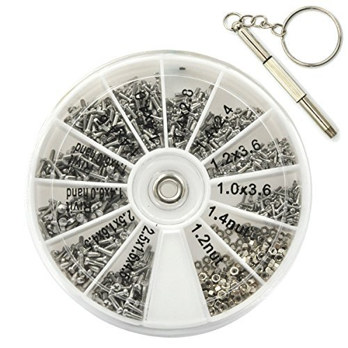 e94370d3a9b922 Ezakka 1000 pièces Tiny Vis Écrou Assortiment kit Outil de réparation ...