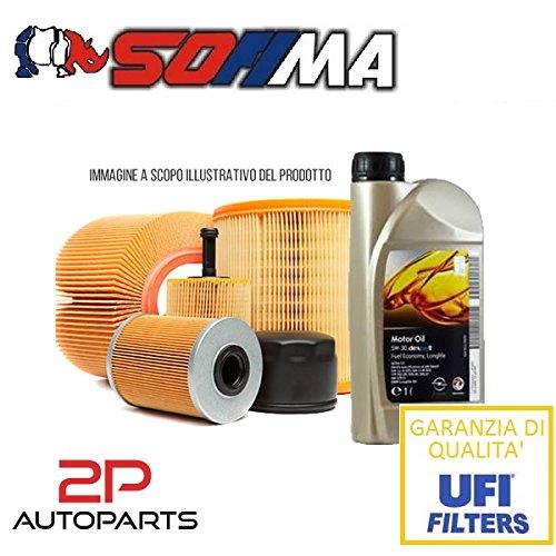Kit tagliando auto, kit tre filtri e 4 litri olio motore GM 5W30 (KF1090/so)