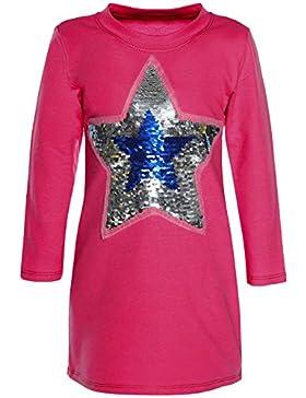 BEZLIT - Blusa - Camisa - Estrellas - Cuello redondo - Manga Larga - para niña rosa 152 cm/12 Años