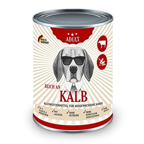 Möhrkes Nassfutter Hund Reich an Kalb 6 x 800g