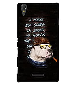 Fuson 2D Printed QuotesDesigner back case cover for Sony Xperia T3 - D4160