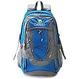 CAMEL Mochilas de escalada Packable liviano Durable mochila deportiva a prueba de agua, para acampar, pescar, viajar, andar en bicicleta, esquiar azul