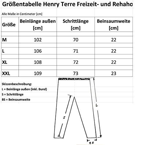 Henry Terre teilbare 2 Wege Reißverschluss Reha Hose Bordeaux