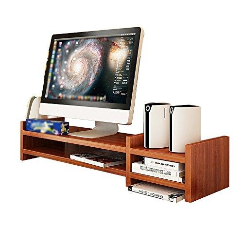 Computer-base-einheiten (SUPPORT Büro Schreibtisch Stand, Holz Computer Monitor Base, 2 Ebenen, Größe 69 * 20 * 14.1cm A++ ( Farbe : 5# ))
