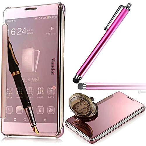 Vandot Funda Carcasa Case Cover para Samsung Galaxy S7 Edge Estructura metalica especialmente disenada estilo metal libro tapa delgada Bookstyle Resistente Aranazos +Aguja Universal