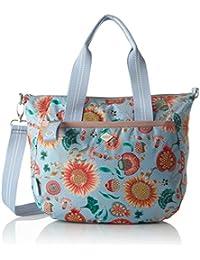 Oilily Groovy Sunflower Handbag Mhz, Bolso Mujer, Azul (Light Blue), 15x25x33 cm (B x H T)