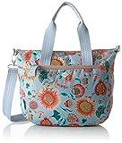 Oilily Damen Groovy Sunflower Handbag MHz Henkeltasche, Blau (Light Blue), 15x25x33 cm
