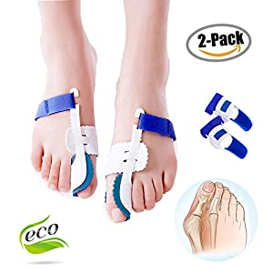 Zehen Separator, Morbuy 1 Paar Hallux Valgus Fußballen-Korrekturschiene Optimale Behandlung und Beste Therapie Vorbeugung von Schmerzen und Entspannung der Füße