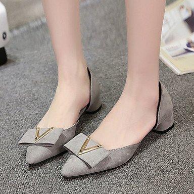 Confortevole ed elegante piatto scarpe donna primavera appartamenti rientrano altri Comfort Suede Office & Carriera Abito casual tacco basso altre nere rosa grigio a piedi gray