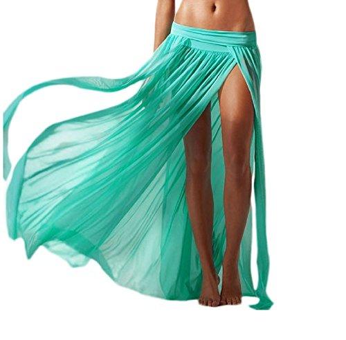 Erwachsene Für Tintenfisch Kostüm - Pareo-Rock - KostüM-Abdeckung - geeignet für Erwachsene Frau & Mädchen - lang - Wasser grüne Farbe