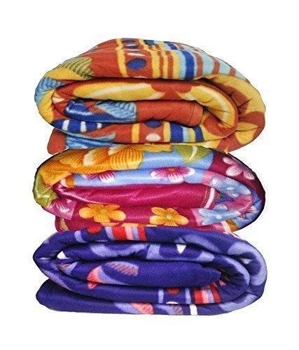 JaipurCrafts Multi color Printed Single Bed Super Lite Blanket - Pack Of 2