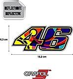 Aufkleber Kleber Valentino Rossi 46 reflektierende hochwertig 15,2 cm x 6,3 cm 1 Einheit