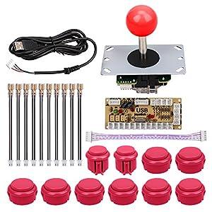 Arkade Joysticks für, Mopei Null Verzögerung des Arcade-Spiel Spiel USB Encoder PC Joystick Controller Kit DIY für MAME Jamma und andere PC-Spiele Kampf