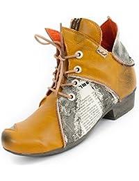 TMA Shoes - Botas de Piel Lisa para mujer marrón marrón claro 36