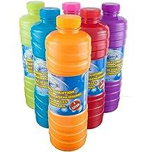 A. E. I. y burbujas de 1 litro de reforzador de fluido de la burbuja para pistolas de solución de burbujas ideales barras de burbujas de jabón de licor