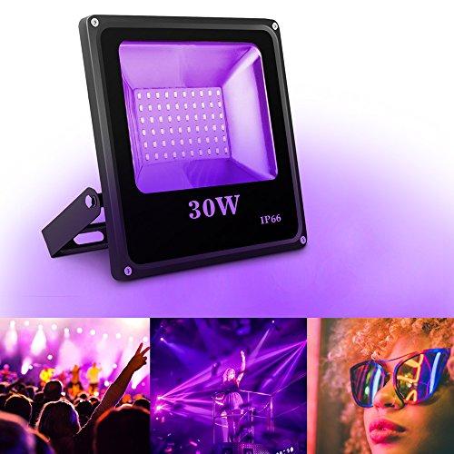 UV LED Strahler SOLMORE UV LED Schwarzlicht LED Flutlicht Scheinwerfer Außenstrahler Flutlichtstrahler UV Beleuchtung Schwarzlicht...