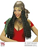 GIPSY WIG W/SEQUIN HEADSCARF BLACK Accessory for Circus Fortune Teller Fancy Dress