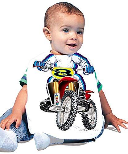 guolinadeou JUST Add Child Baby Boy Model Motocross 423 Baby bib 0 - 6 Months White 6Months