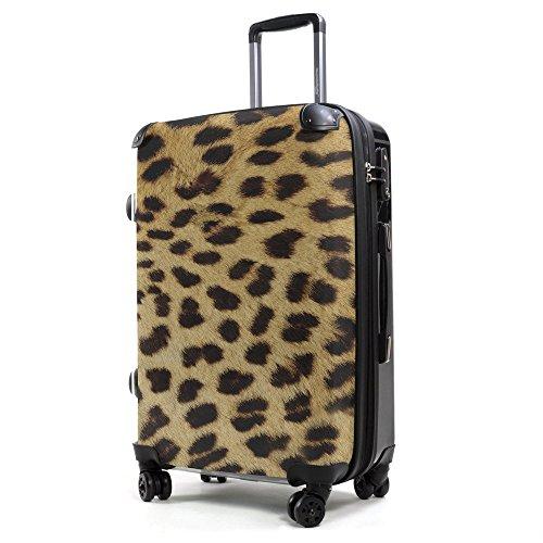HAUPTSTADTKOFFER® 40 Liter (ca. 55 x 35 x 24 cm) · Handgepäck · Modell: STYLE · TSA Schloss · verschiedene Cover (Sonnenblume) Leopardenfell