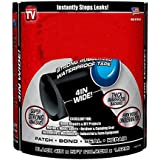 "Basic Deal - Strong Rubberized Waterproof Tape Black 4"" X 5'"