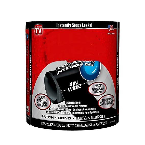 Basic Deal - Strong Rubberized Waterproof Tape Black 4 X 5'