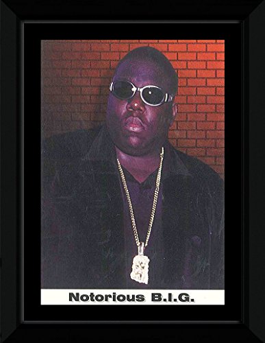 Stick It On Your Wall Notorious Big - Brille gerahmtes Mini Poster - 14,7 x Trend Zeitungsrolle Zeitungsbox