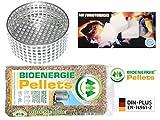 Komplettes Winter-Sorglos-Paket: Anzündhilfe XT (5 J. Garantie) + Anzünder + 15 kg Holzpellets - mehr als 120 Anzündvorgänge - Arbeitserleichterung beim Ofenanzünden - Komplettpaket
