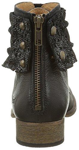 Kickers - Punkyzip, Stivali classici alla caviglia Donna Noir (Noir Brillant)