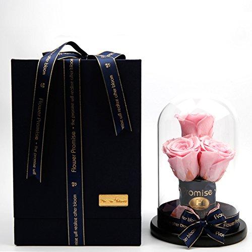 Décorations de rose,éternel verre de fleurs ou des ornements en verre Fleurs Cadeaux personnalisés Le jour de noël [accessoires de mariage] Cérémonie de main-H