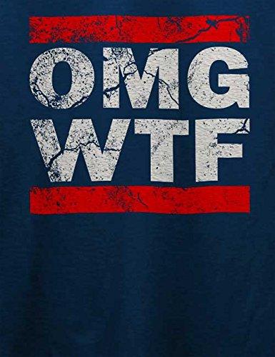 Omg Wtf T-Shirt Navy Blau