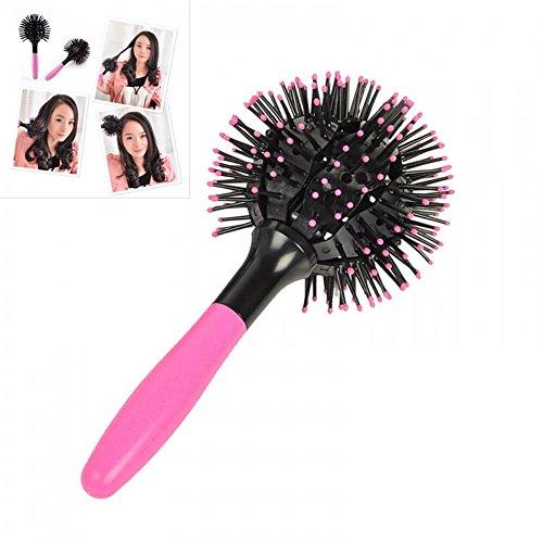Enshey japan 3d bomb curl spazzola per capelli -360° gradi sferica di massaggio pettine, full round hot curling styling brush, groviglio districante termoresistente pettine