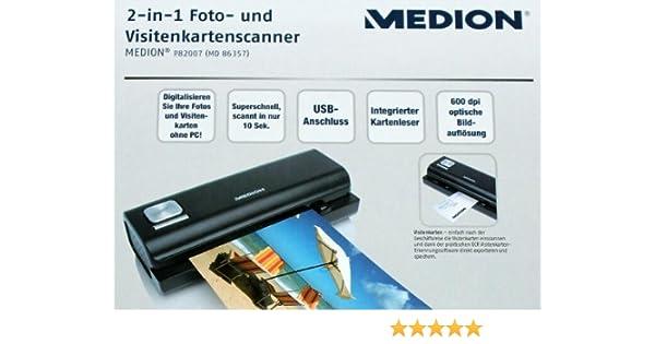 Medion 2 In 1 Foto Und Visitenkartenscanner Md 86357