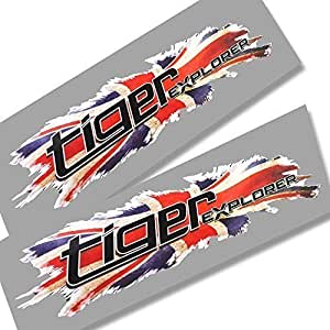 Twisted Melon Aprilia 2 Lions heads design graphics decals stickers x 2 Italian flag style