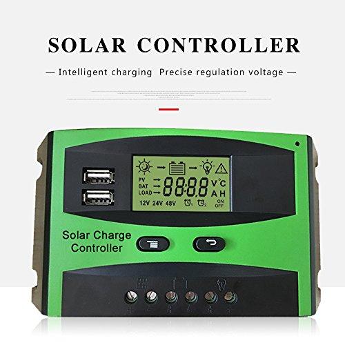 Preisvergleich Produktbild Huatuo® 20A 12V / 24V Solar Laderegler,  wasserdicht Solar Panel Regler Adapter mit Dual USB Port LCD Display Mutiple Schutz