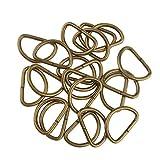 Baoblaze 100 Stück D Ringe Halbringe, Legierung für Gurt Band Riemen Schnalle Gürtelschnalle - Bronze, 20x10x2.5mm