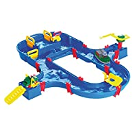 Aquaplay Waterway Canal System Toy with Lock Gates Crane, Amphibious Truck and Boat