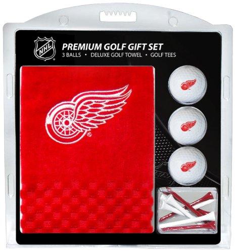 NHL Detroit Red Wings Golfhandtuch, 3 Golfbälle und Golf-T-Shirt