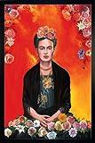 Close Up Frida Kahlo Poster Meditation (66x96,5 cm) gerahmt in: Rahmen Schwarz
