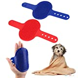#2: Generic New Dog Shower Bath Brush Comb Pet Puppy Hair Grooming Massage Rubber Glove Red