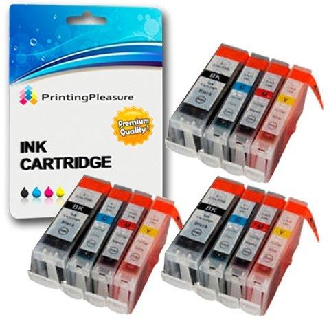 12 Druckerpatronen für Canon BJC-3000 BJC-6000 BJC-6100 BJC-6200 BJC-6500 I550 I560 iP3000 iP4000 iP5000 MP700 MP730 MP780 S450 S520 S600 S750 | kompatibel zu BCI-3eBK BCI-6C BCI-6M BCI-6Y - Drucker Ip4000 Für Tinte Canon