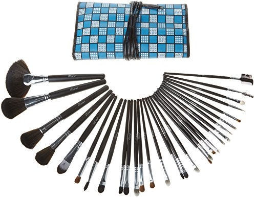 Glow 30 de qualité professionnelle pc maquillage set (bleu checkered)