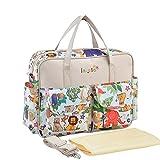 AOLVO Personalisierte Wickeltasche, Premium Wickeltasche Multifunktions-Wasserdicht Große Kapazität Baby Windel Tasche, kann als Schultertasche, Messenger Bag, Handtasche, Rucksack, und in Klein Griff, C2, Einheitsgröße