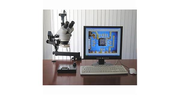 Gelenkige stereo mikroskop w led light mp usb