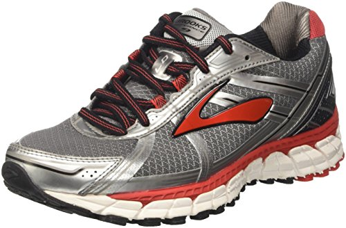 Brooks Defyance 9, Scarpe da Corsa Uomo, Grigio (Charcoal/Silver/High Risk Red), 43 EU
