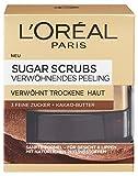 L'Oréal Paris Sugar Scrubs Gesichtsmaske mit Kakao-Butter, Verwöhnendes Peeling, 1er Pack (1 x 50 ml)