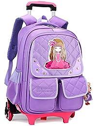 92c7ee0c19bdf7 Gucili Zaino per Bambini, Trolley Zaini per Ragazza dei Cartoni Animati,  Zaino da Viaggio per Scuola Primaria…